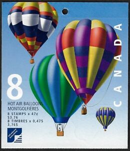 Stamps Canada BK247 #1921a-d Hot Air Balloons 8 x 47c