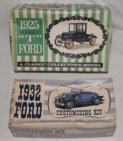 2 Ford Model Kits 1925 Model T 1932 Roaster AMT Customizing