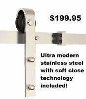 great rolling and soft closing barn door hardware
