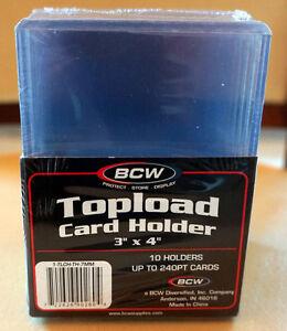 """BOITE DE 10 TOPLOAD CARD HOLDER BCW 3""""x 4"""""""
