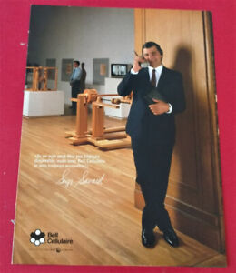 FRENCH 1990 BELL CELLULAR PHONE AD WITH HABS SERGE SAVARD