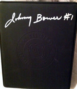 Johnny Bower autographed puck/box + more!