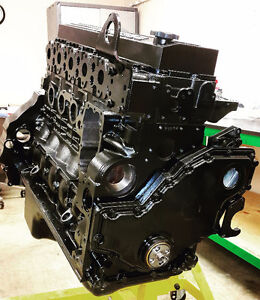 REBUILT 6.7L DODGE CUMMINS 24 VALVE DIESEL ENGINE.