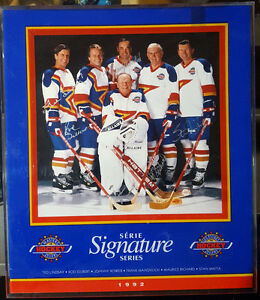 Unique Rare Signed photo of Hockey Hall of Famers