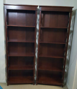 TWO TALL BOOKCASE
