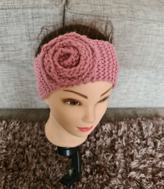 YOUNG GIRLS KNITTED ROSE HEADBAND