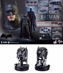 Batman With Tech Cowl and Sniper Riffle BVS Exclusive HOT TOYS!