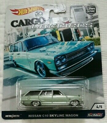 NISSAN SKYLINE WAGON C10  HOT WHEELS CARGO CARRIERS DIECAST 1:64