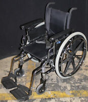"""Invacare 16"""" Wide Chrome Folding Wheelchair with Pneumatic Tires"""