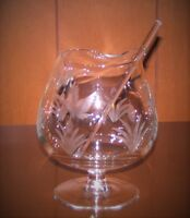 Etched Crystal 1950-60s Drink mixer with stir stick