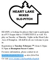 Heartlake Mixed Slo Pitch League (Brampton)