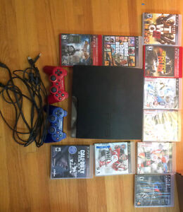 Sony PlayStation 3 Slim 250GB Charcoal Black With 9 games