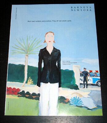 Vintage BARNEYS NEW YORK 1-Pg PRINT AD 1995 Jean-Philippe Delhomme illustration