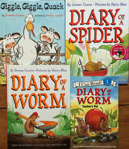 DIARY OF A SPIDER & more by DOREEN CRONIN $3 each or 4 for $10