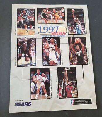 WNBA 1997 THE INAUGURAL SEASON 8X10 LIMITED EDITION 13TH OF 14 COMETS VS LIBERTY