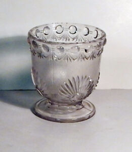 Pressed Glass Ornamental Sugar Bowl