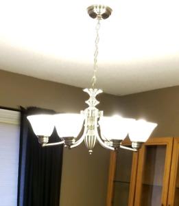 6 light Silver Chandelier for sale