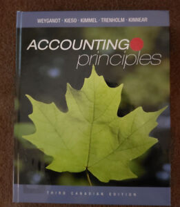Third Canadian Edition Accounting Principles Grade 12 textbook