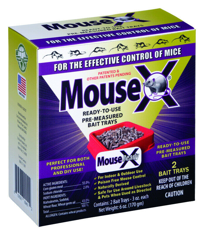 MouseX Non-Toxic Bait Pellets For Mice And Rats 6 Oz. 2 Pk