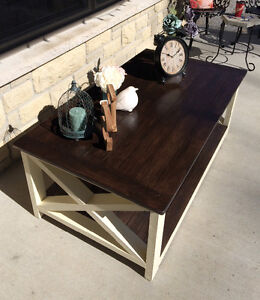 Rustic Country Chic Coffee tables with matching side tables