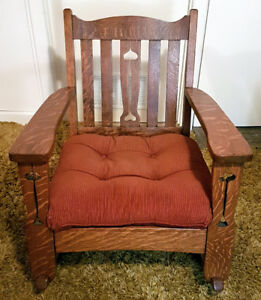 Antique Solid Oak Rocking Chair ~ 80-90 years old