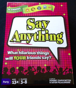 """Say Anything"" Party Game"