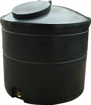 Ecosure 1300 Litre Water Tank Black No Outlet Dia1250mm H1240mm Brand New