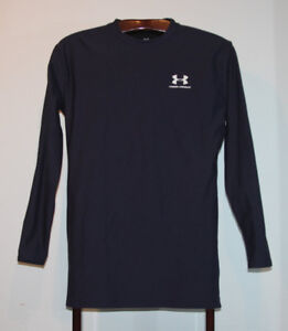 UNDER ARMOUR COLD GEAR LONG SLEEVE SHIRT NAVY BLUE SIZE ADULT XL
