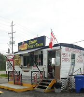 Food trailer 10 X 20 on wheels ready for business