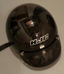 Helmet With Viser -- Size XL (Half Helmet)  Very Good Condition