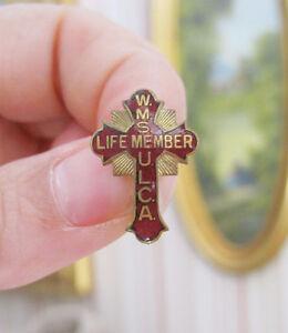 1960s Cross Pin - WMS Life Member ULCA - United Lutheran