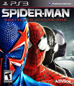 PS3 games Spiderman shattered dimensions and Shadow of Mordor
