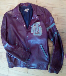 OTTAWA UNIVERSITY VINTAGE LEATHER JACKET