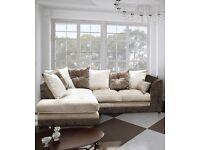 New Bella Corner or 3+2 Sofa In Crushed Velvet
