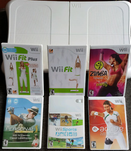 Wii Fit Board + 6 Games