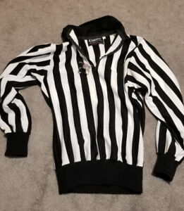 LADIES SMALL REFEREE JERSEY PLUS WHISTLE
