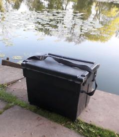 Fishing Tackle - Seatbox / Tackle Box - Black Seat Box