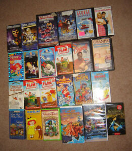 Assorted VHS Tapes for Preschoolers and Kids