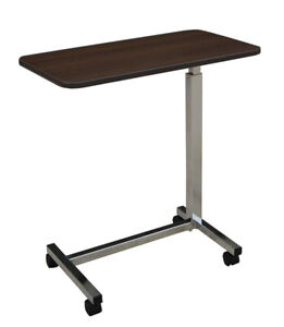 Overbed table - adjustable height