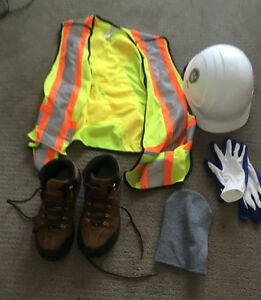 GREAT OFFER - Work Boots + Construction Safety Vest