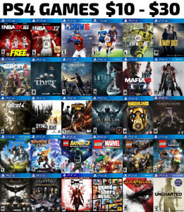 PS4 Games For Sale or Trade - $10 to $30 + FREE GAME!