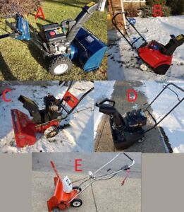 SnowBlowers, Prices in ad