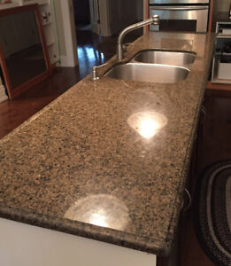 Beautiful granite counter with sinks