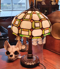 Small Tiffany style table lamp