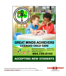 Great Minds Achievers Licensed Child Care