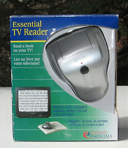 ESSENTIAL TV READER TURNS TV INTO A VISUAL AID  NEW