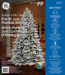 Flocked 7.5 ft Christmas Holiday Tree