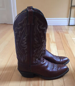 Brown leather cowboy boots excellent condition