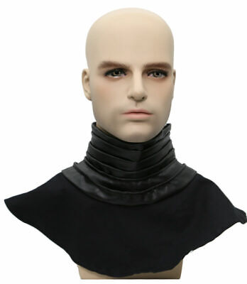 Kylo Ren Deluxe Ribbed Black Neck Seal for Star Wars Cosplay Costume Accessory