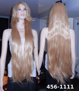 Deluxe 100 cm Long Straight Blonde Cosplay Wig (456-1111)